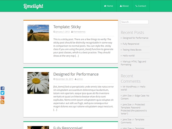 Limelight free wordpress theme