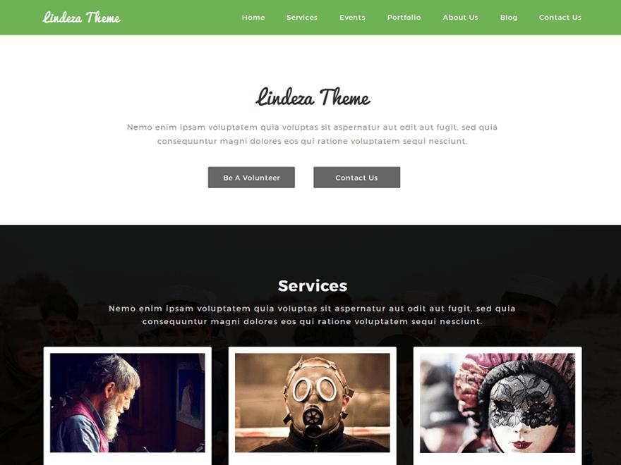 Lindeza free wordpress theme