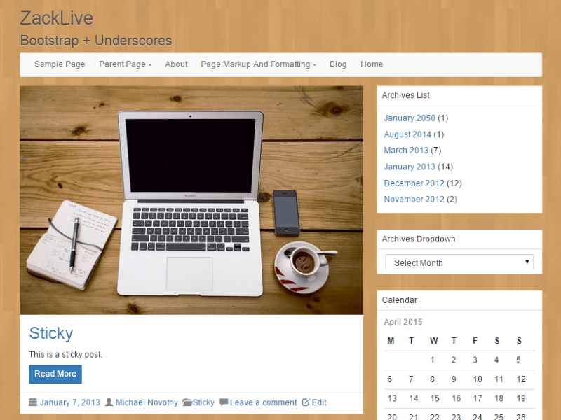 LineDay free wordpress theme