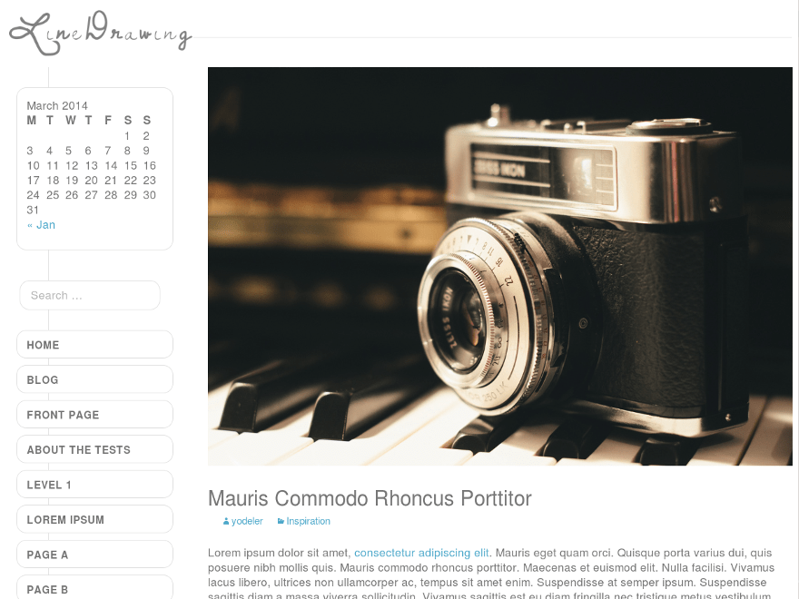 LineDrawing free wordpress theme