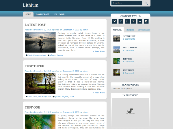 lithium free wordpress theme