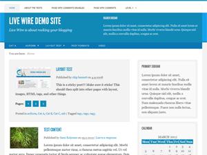 Live Wire free wordpress theme