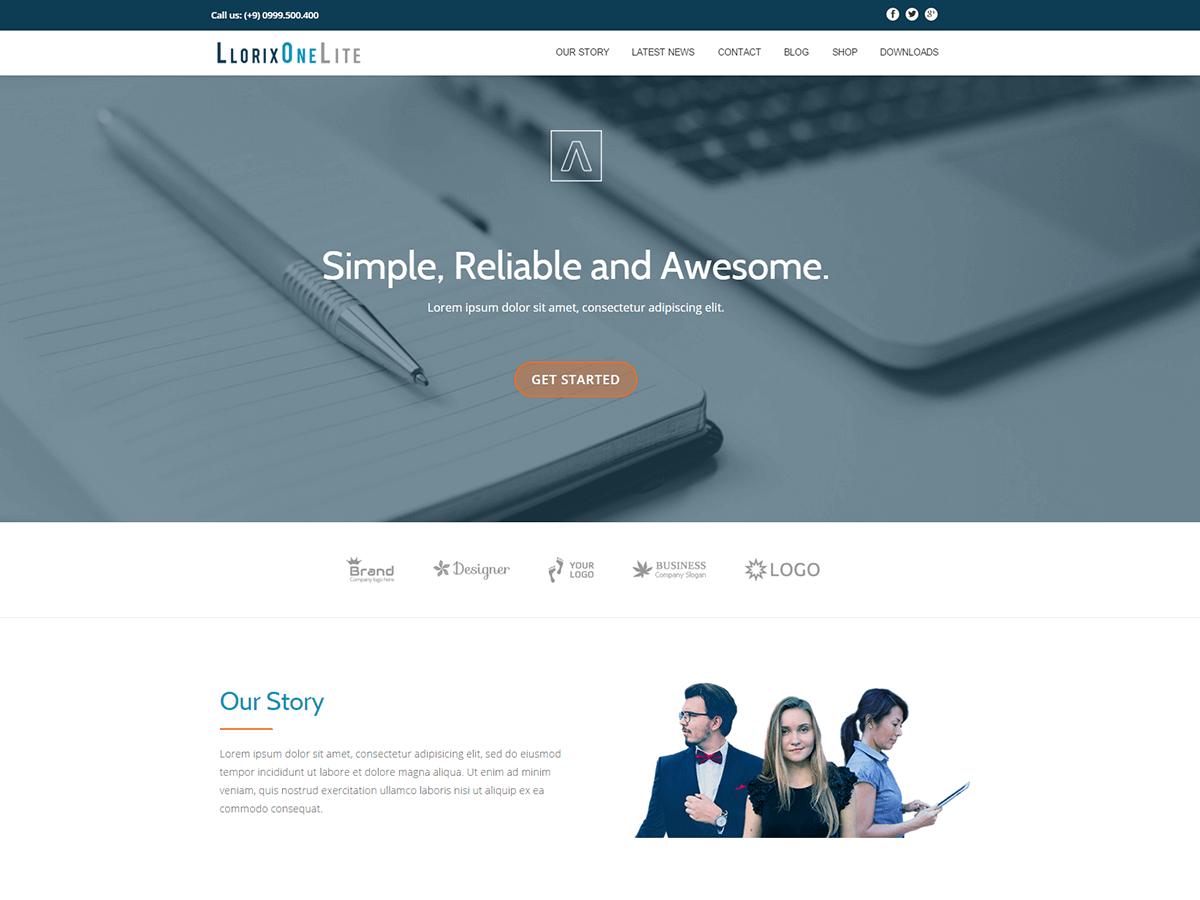 Llorix One Lite free wordpress theme