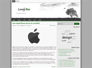 Lonelytree free wordpress theme