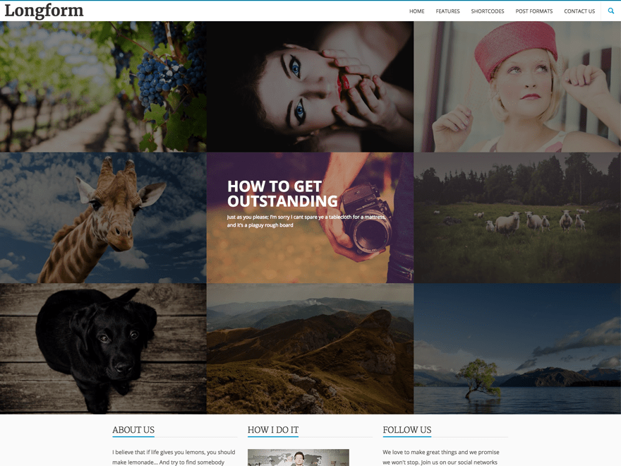 Longform free wordpress theme