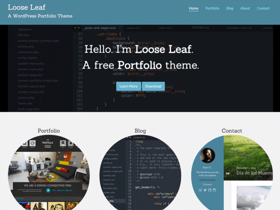 Loose Leaf wordpress theme