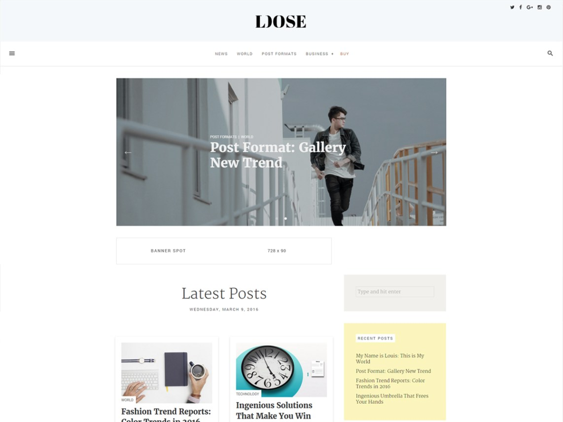 Loose Theme WordPress