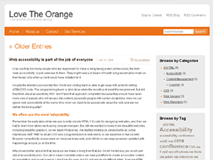Love The Orange wordpress theme