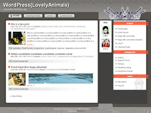 LovelyAnimals free wordpress theme
