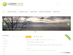 Lugada free wordpress theme