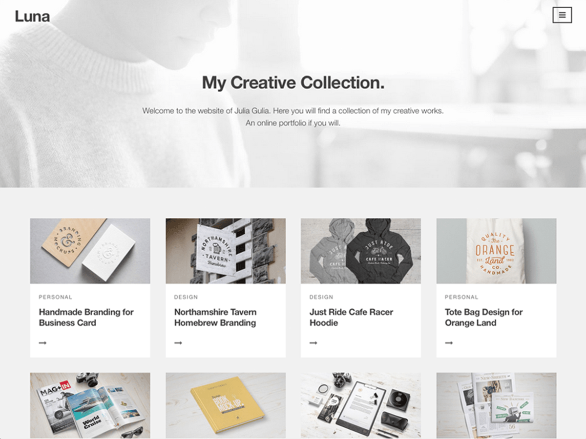 Luna wordpress theme