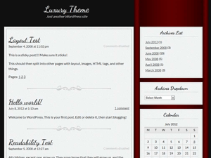 Luxury free wordpress theme
