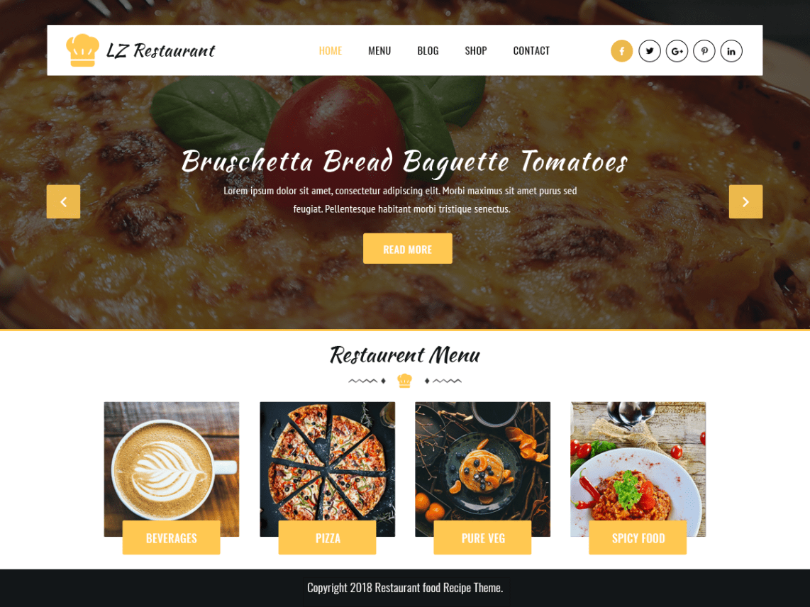 Lz Food Recipee WordPress Theme Wordpess Org