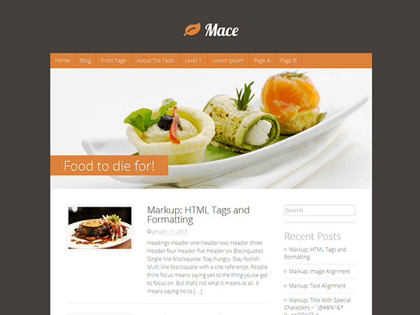 Mace free wordpress theme