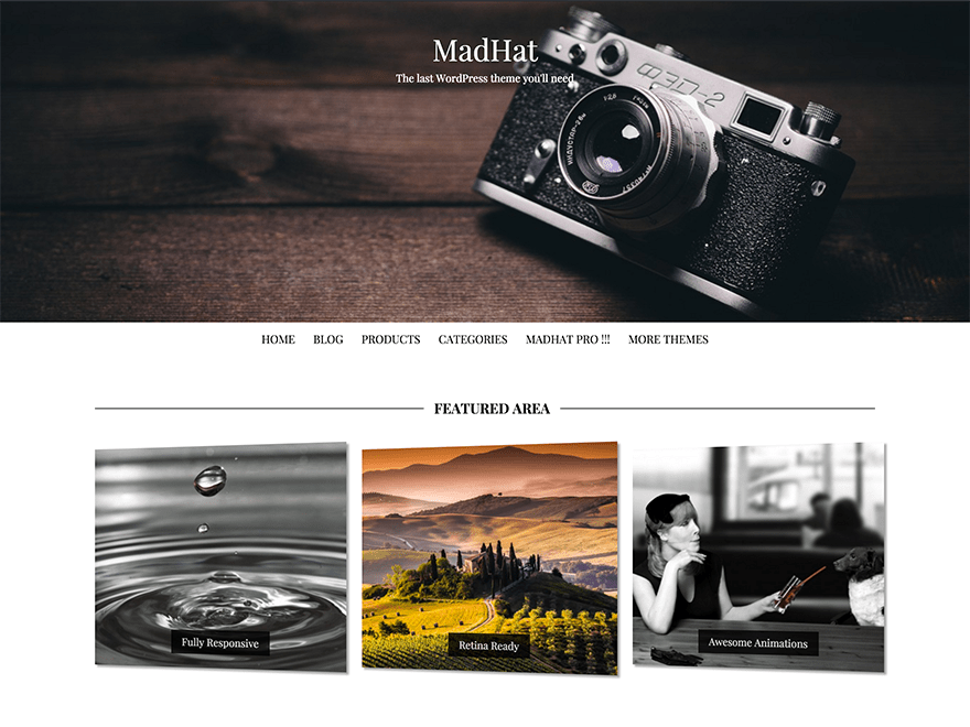 MadHat free wordpress theme