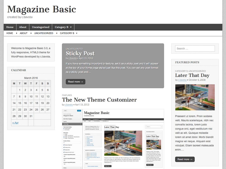 Magazine Basic — Free WordPress Themes