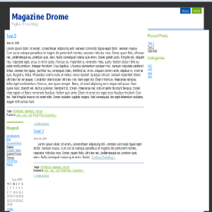 Magazine Drome free wordpress theme