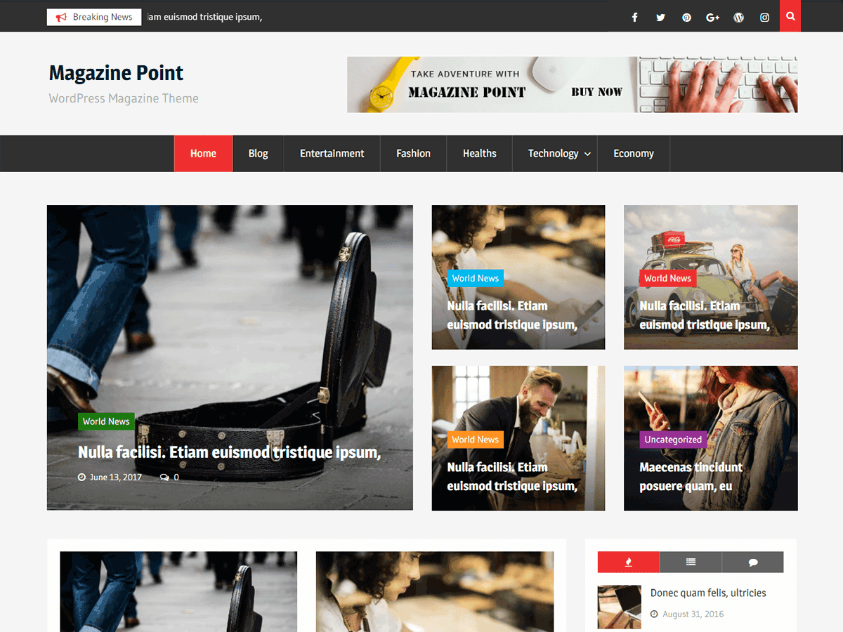 WordPress тема: Magazine Point