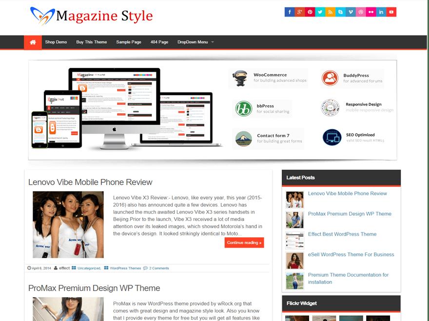 Magazine Style | WordPress.org