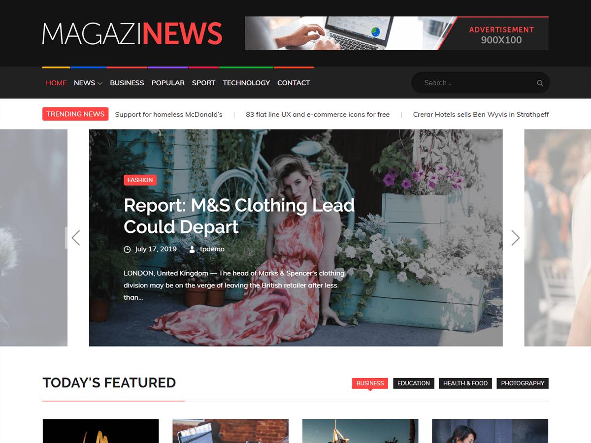 Magazinews Wordpress Theme Wordpress Org