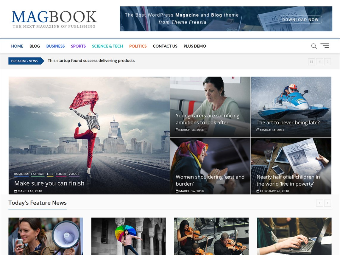 Magazine WordPress Theme