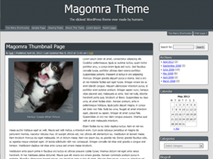 Magomra free wordpress theme