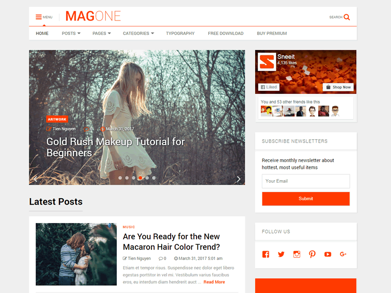MagOne Lite Theme Free Download