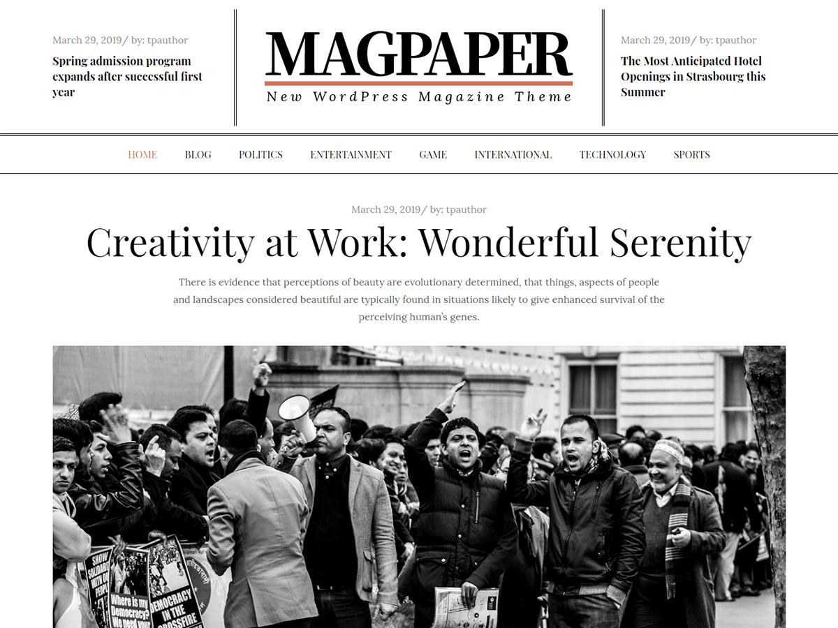WordPress主题:Magpaper