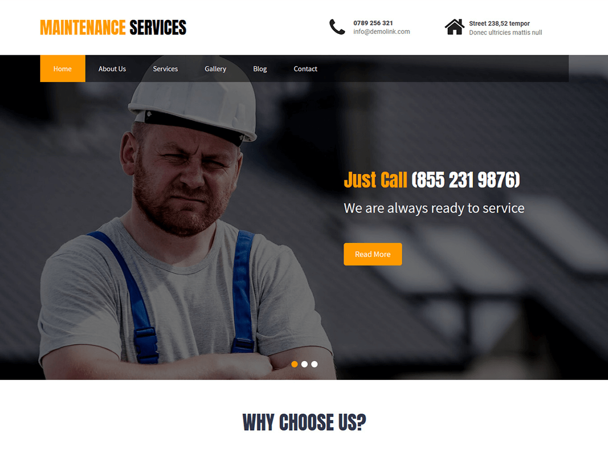 Maintenance Services - WordPress theme - WordPress.org