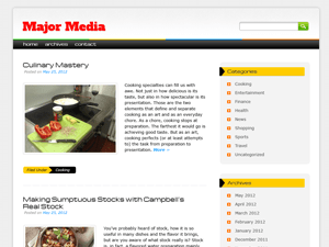 Major Media free wordpress theme