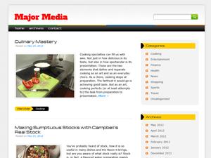 Major Media wordpress theme