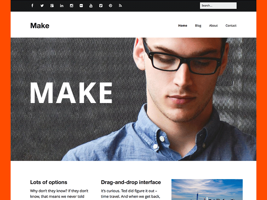 Make free wordpress theme