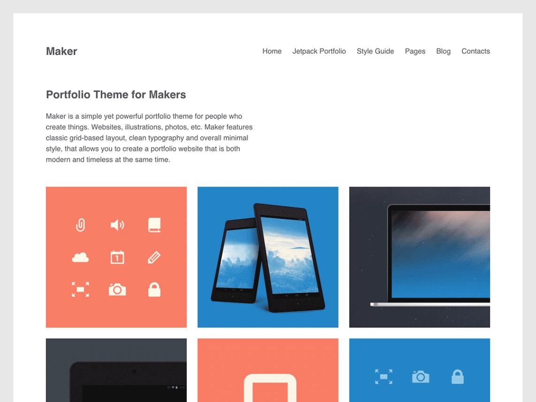 Maker theme wordpress gratuit