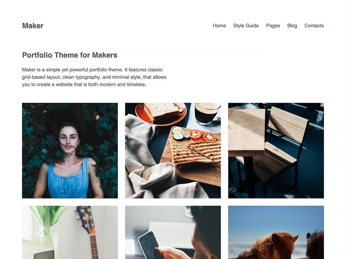 Maker free wordpress theme