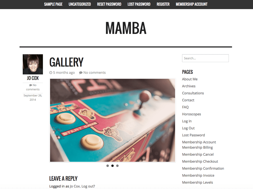 Mamba free wordpress theme