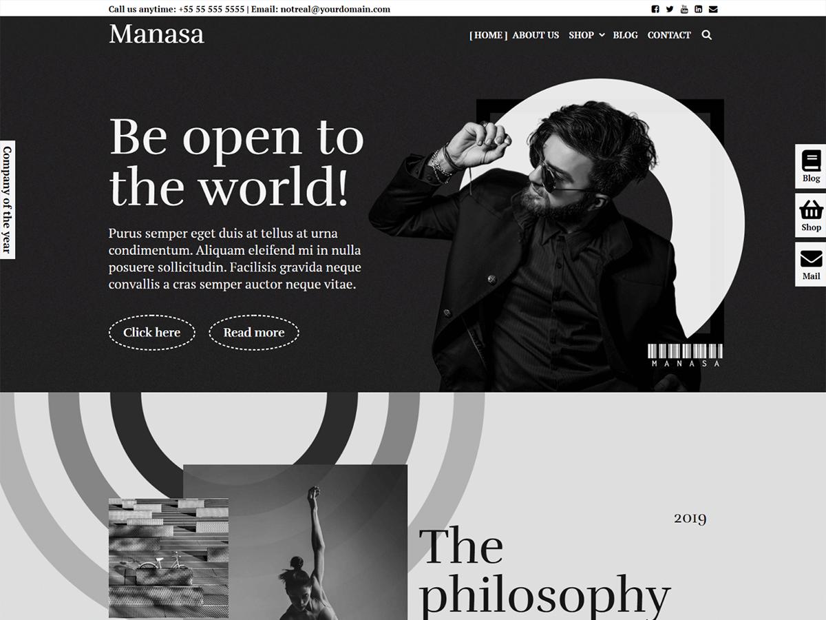 Manasa - WordPress theme | WordPress.org Occitan