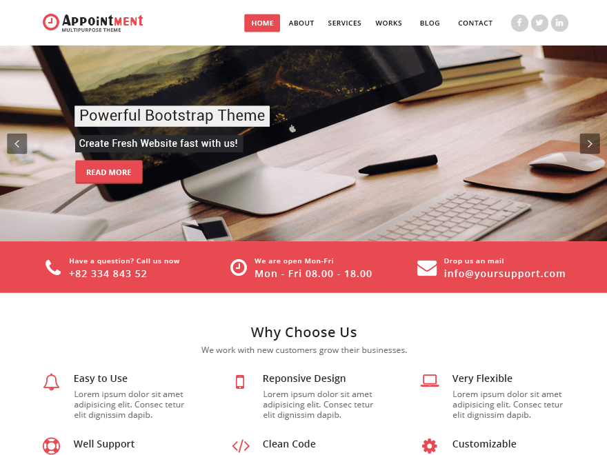 Mandy free wordpress theme
