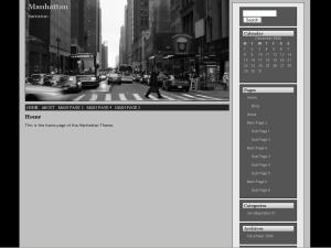 Manhattan free wordpress theme