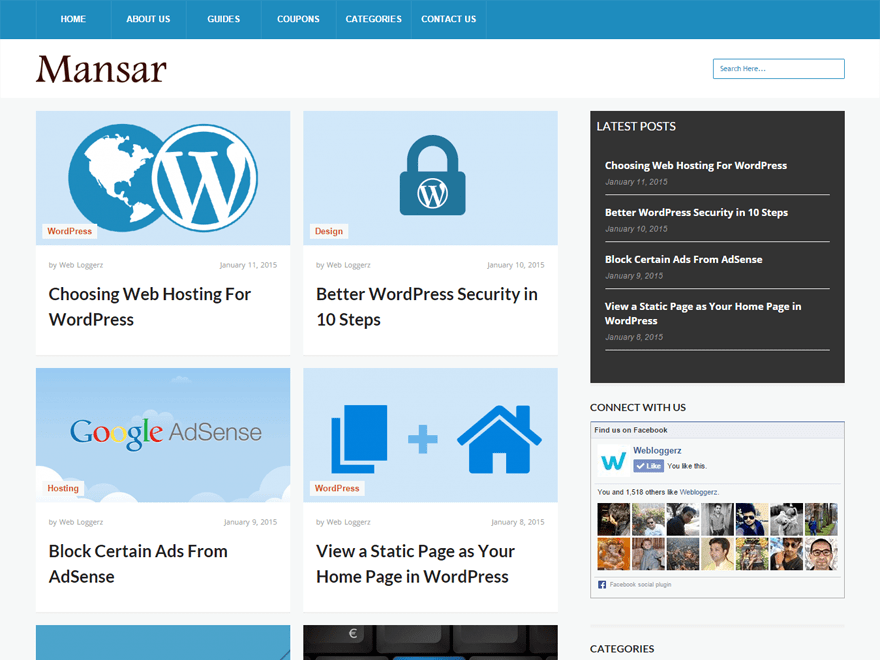 Mansar theme wordpress gratuit
