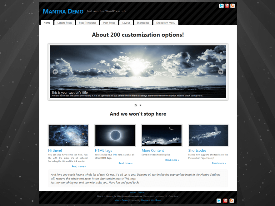 Mantra free wordpress theme