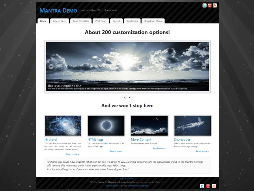 Mantra free wordpress theme