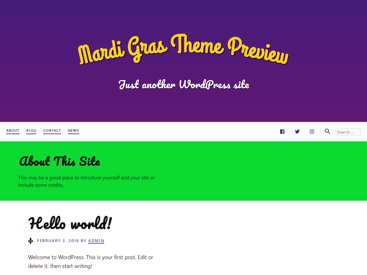 WordPress主题:Mardi Gras