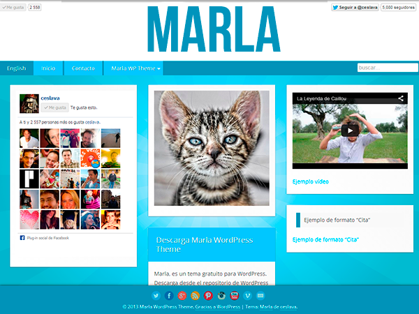 Marla Theme free wordpress theme