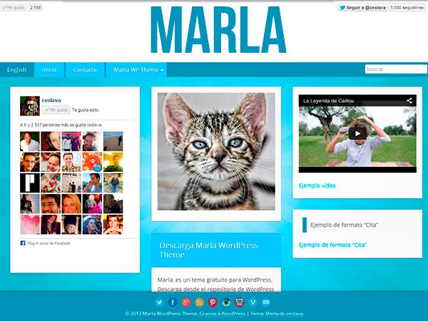 Marla free wordpress theme
