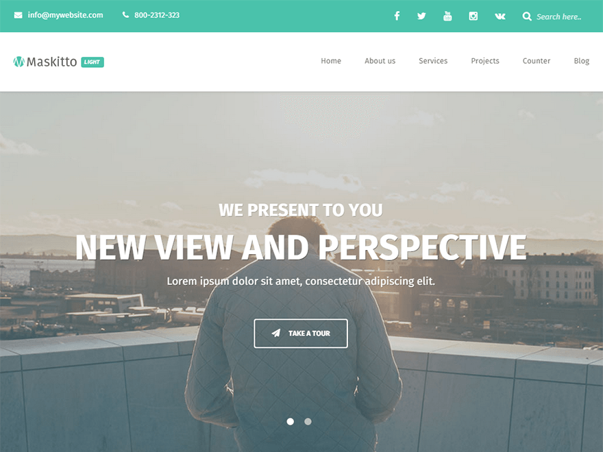 Maskitto Light free wordpress theme