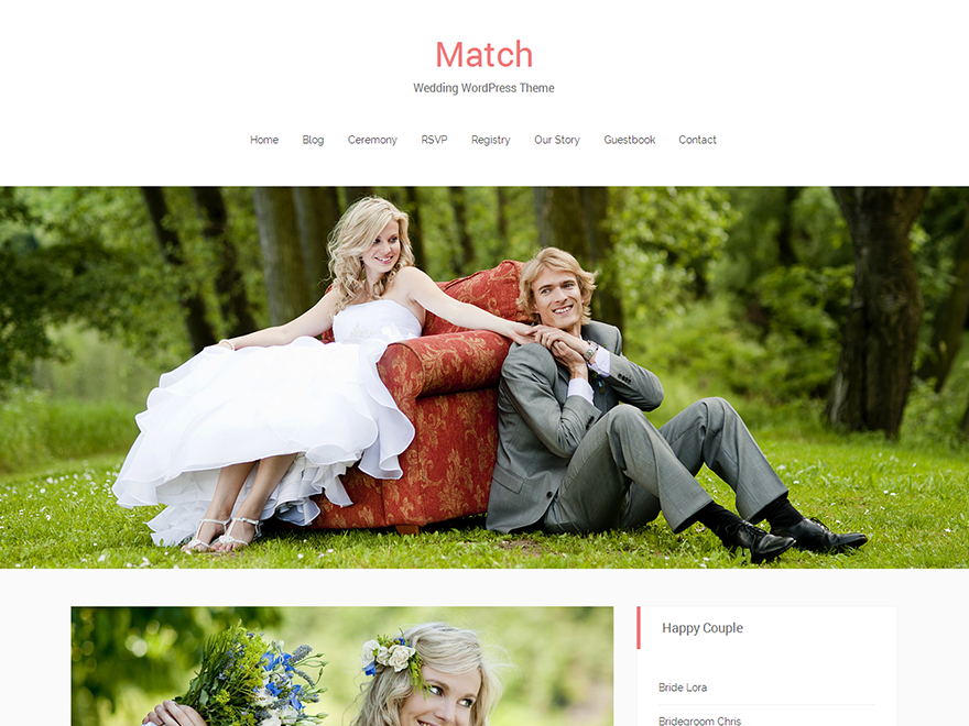 Match free wordpress theme