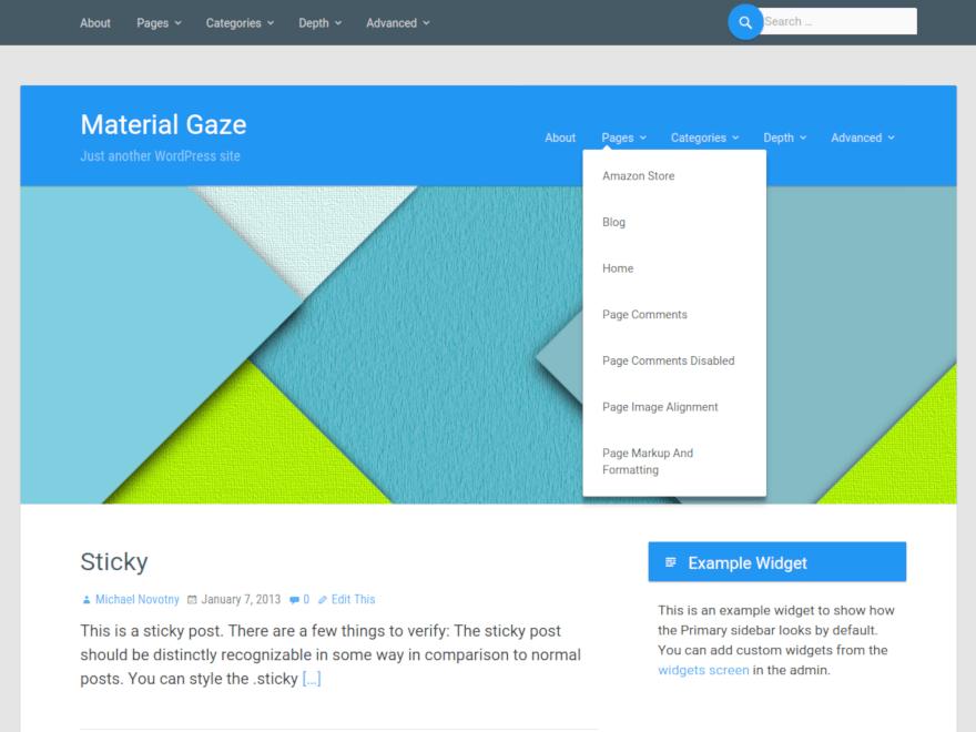 Material Gaze | WordPress.org