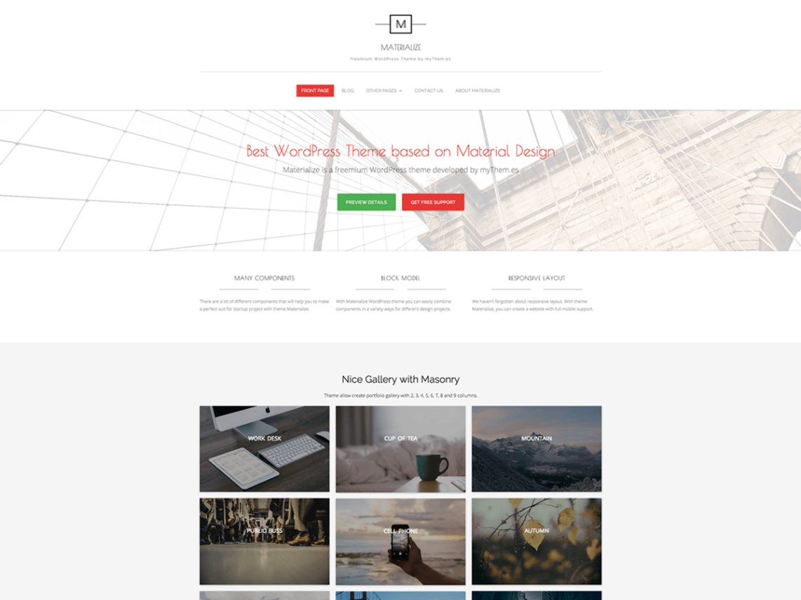 Materialize Theme Free Download