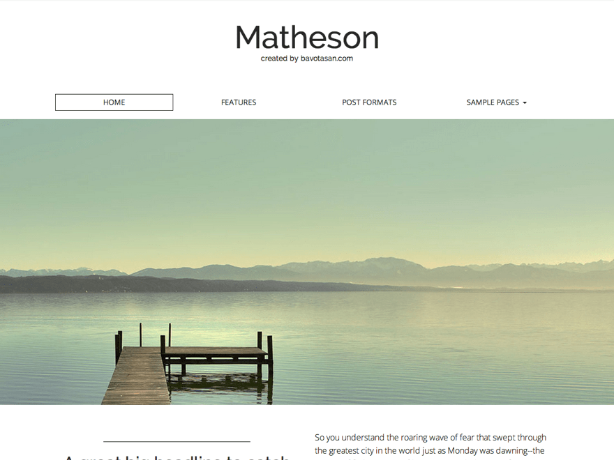 Matheson free wordpress theme