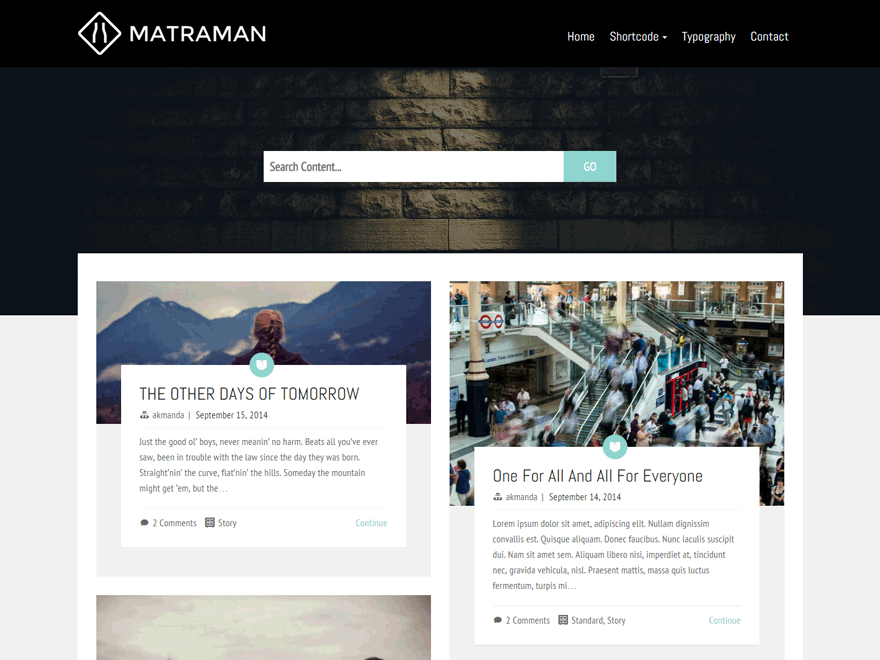 Matraman Lite free wordpress theme